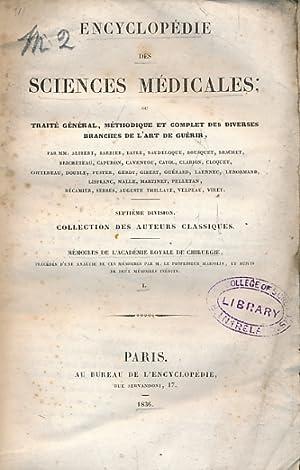 Encyclopédie des Sciences Médicales. Septième Division. Mémoires: Bayle, M [ed.]
