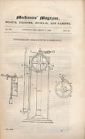 The Mechanics' Magazine, Museum, Register, Journal, and Gazette. Part CXLIII, December 1834: ...