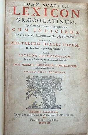 Lexicon Graeco-Latinum, E Probatis Auctoribus Locupletatum, Cum: Scapula, Johannes; Zvingeri,
