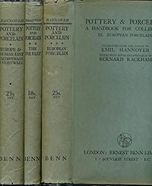 Pottery & Porcelain. 3 volume set: Hannover, Emil; Rackham, Bernard [trans]