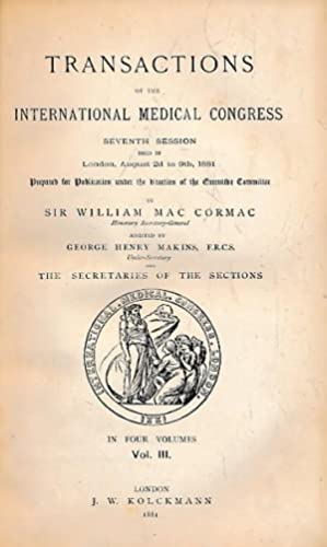 Transactions of the International Medical Congress. Seventh Session Held in London, August 2d to ...