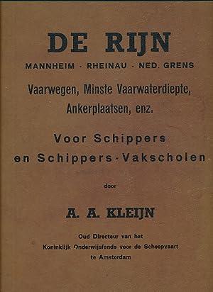 De Rijn. Mannheim. Rheinau. Ned. Grens. Vaarwegen, Minste Vaarwaterdiepte, Ankerplaatsen, enz. Voor...