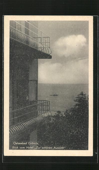 Ansichtskarte Gromitz Blick Vom Hotel Zur Schonen Aussicht