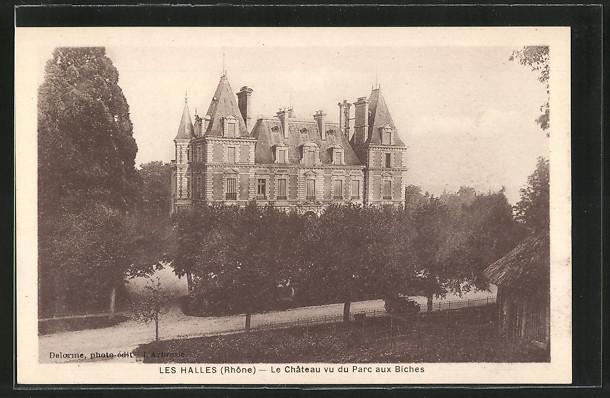 Carte postale Les Halles, Le Chateau vu