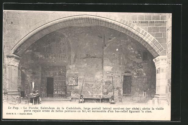 Carte postale Le Puy, Le Porche Saint-Jean