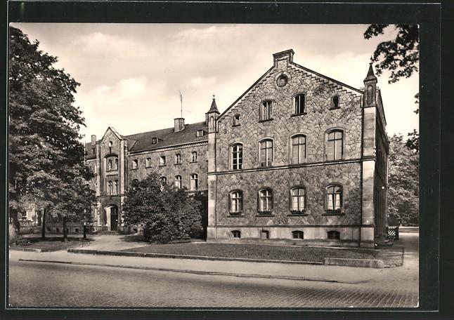 Ansichtskarte Reichenbach, Theodor-Körner-Oberschule, Aussenansicht