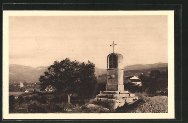 Carte postale Trets, oratoire Saint-Jean, la chapelle