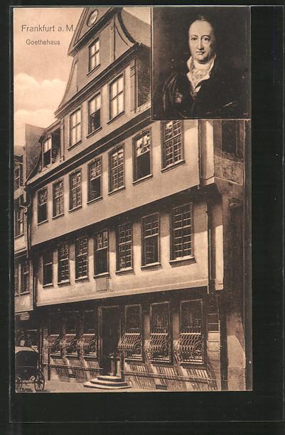 Ansichtskarte Frankfurt a/M, Goethehaus