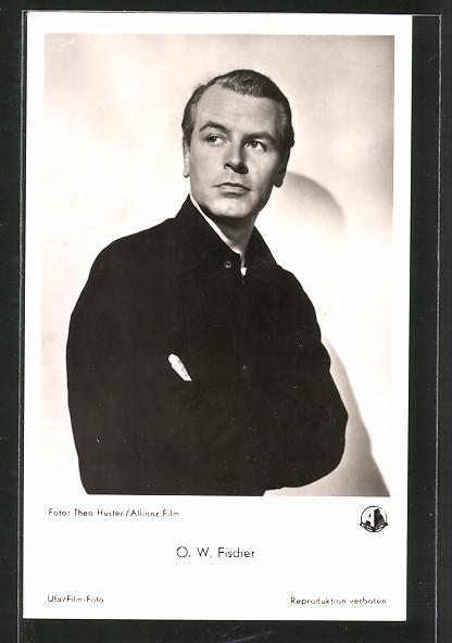 Ansichtskarte Portrait des Schauspielers O. W. Fischer