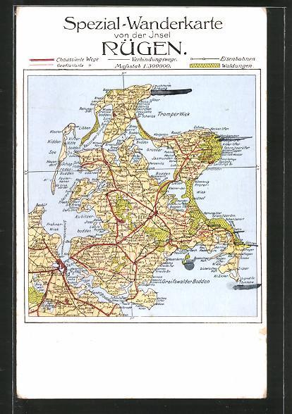 Ansichtskarte Bergen Landkarte Der Ortschaft Mit Umgebung