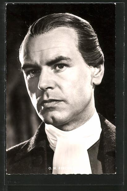 Ansichtskarte Schauspieler O. W. Fischer in einer