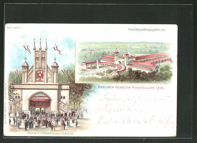 Berliner Gewerbe Ausstellung 1896 Zvab