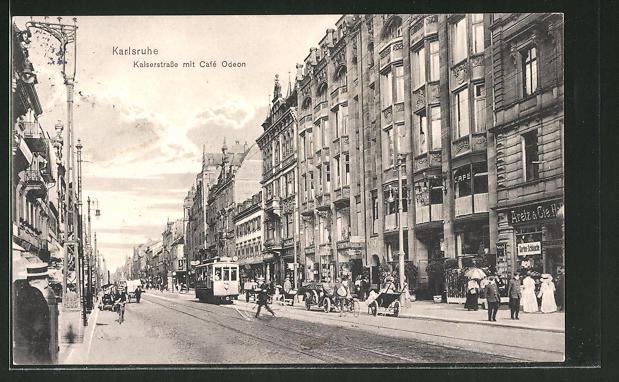 Ansichtskarte Karlsruhe Cafe Zvab