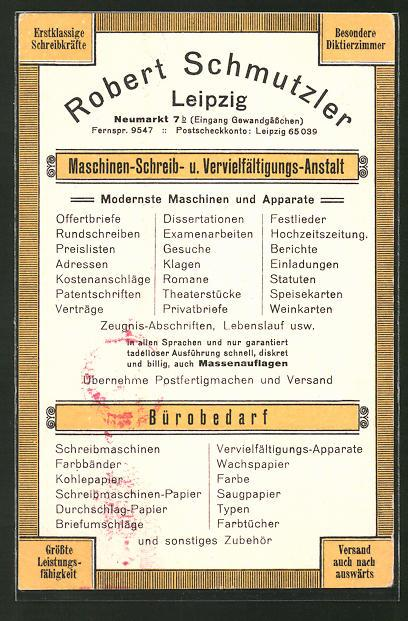 Ansichtskarte Leipzig Robert Zvab