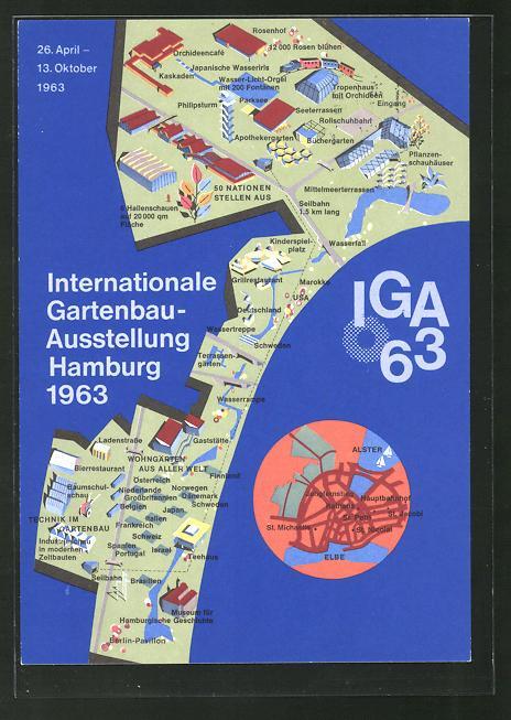 Hamburg karte hamburg zvab for Gartenbau hamburg