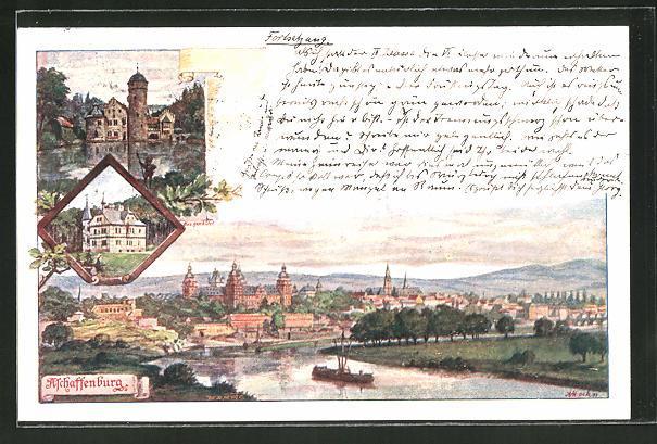 Künstler Aschaffenburg künstler ansichtskarte aschaffenburg schloss zvab