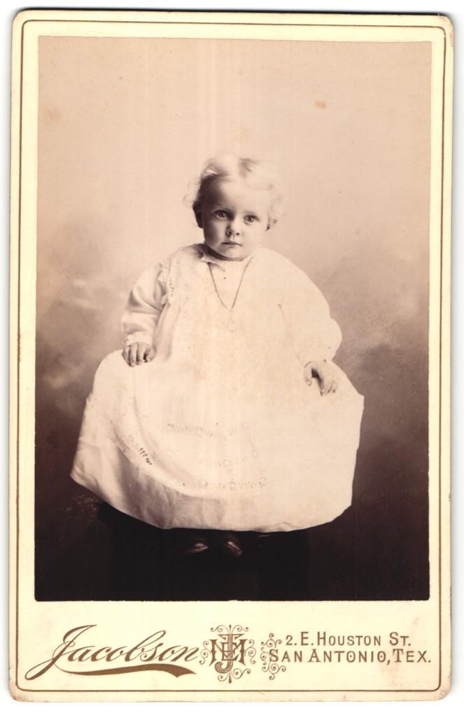 Photo Jacobson San Antonio TX Portrait Kleinkind Foto Des Verkaufers