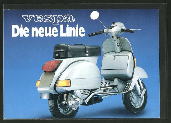 Ansichtskarte Vespa, die neue Linie, Werbung, Motorroller