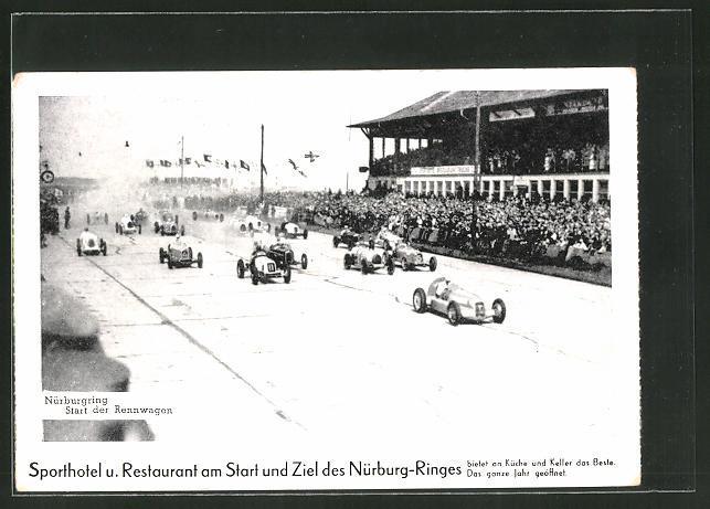Ansichtskarte Nürburgring Start Zvab