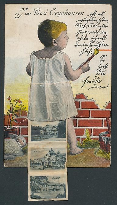Leporello Ansichtskarte Bad Oeynhausen