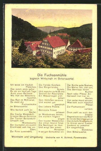 Ansichtskarte Weinheim Gasthaus