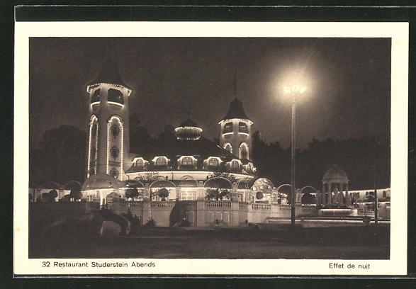 Ansichtskarte Bern, Schweizerische Landesausstellung 1914, Restaurant Studerstein