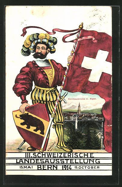 Ansichtskarte Bern, III. Schweizerische Landesausstellung 15 Mai-15