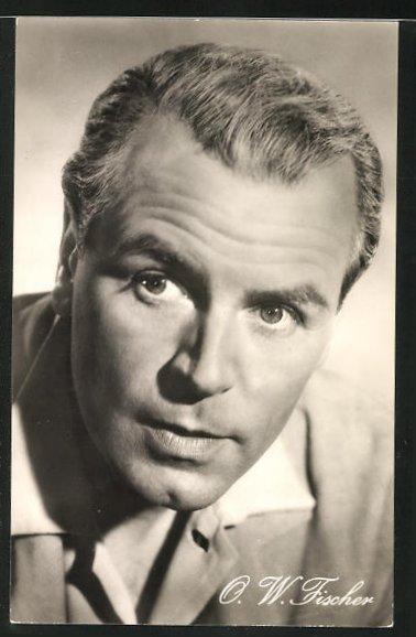Ansichtskarte Schauspieler O. W. Fischer in dem