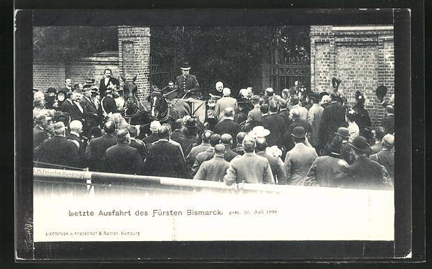 Ansichtskarte Letzte Ausfahrt des Fürsten Bismarcks, gest. 30. Juli 1898