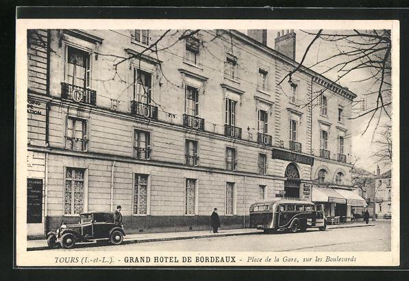 Carte Bordeaux Hotels.Carte Postale Tours Grand Hotel De Bordeaux