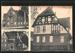 Ansichtskarte Regenwalde, Ansichten vom Königlichen Amtsgericht