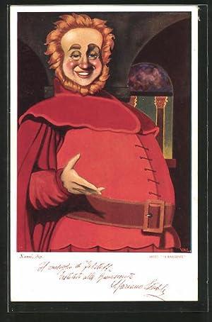 Künstler-Ansichtskarte Nanni: Opernsänger Mariano Stabile im Kostüm,