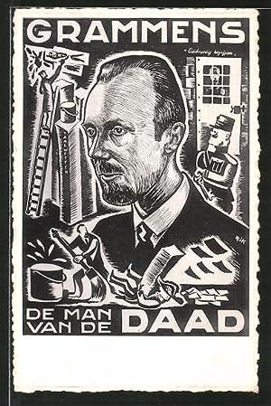 Künstler-Ansichtskarte Belgien, De Man van de Daad,