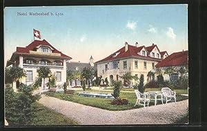 Ansichtskarte Lyss, Hotel Worbenbad vom Garten gesehen