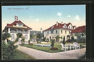 Ansichtskarte Lyss, Hotel Worbenbad, Ansicht vom Garten