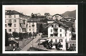 Ansichtskarte Finhaut, Ortspartie mit Grand Hotel Bel