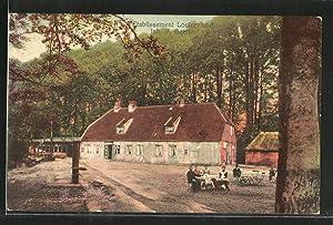 Ansichtskarte Güby, Gasthaus Louisenlund von P. Geertz