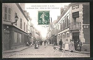 Carte postale Bray-sur-Seine, La Grande Rue, Hotel