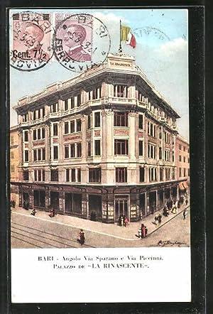 Cartolina Bari, Palazzo de La Rinascente, Angolo