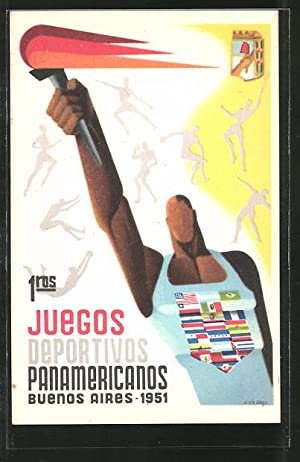 Postcard Buenos Aires, Juegos Deportivos Panamericanos 1951