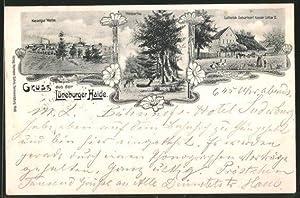 Lithographie Lutterloh, Kieselgur-Werke, Waldparthie, Geburtsort Kaiser Lothar