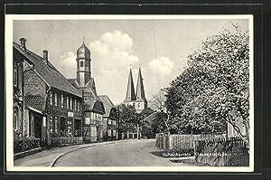 Ansichtskarte Hohenhameln, Clauenerstrasse mit Blick zur Kirche