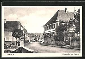 Carte postale Lembach, Weissenburger Strasse