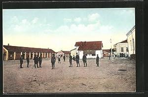 Ansichtskarte Skoplje / Ueskueb, Lazarett, Soldaten auf