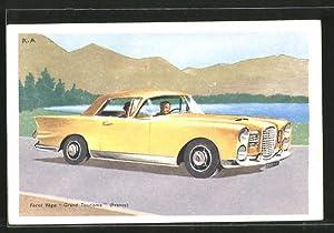 "Künstler-Ansichtskarte Auto-Reklame für Facel Véga ""Grand Tourisme"""