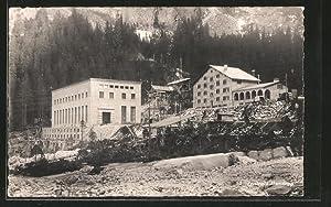 Ansichtskarte Innertkirchen, Zentrale des Kraftwerks Handeck an