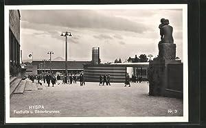 Ansichtskarte Bern, HYSPA-Ausstellung, Festhalle und Bäderbrunnen