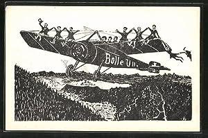 Künstler-Ansichtskarte Einjährig-Freiwillige Humboldtschule 19176 U 2 b,