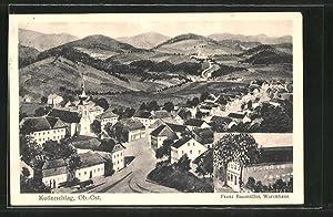 Ansichtskarte Kollerschlag, Warenhaus v. Franz Baumüller, Ortspanorama