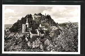 Ansichtskarte Lindenfels, Partie an der Burgruine